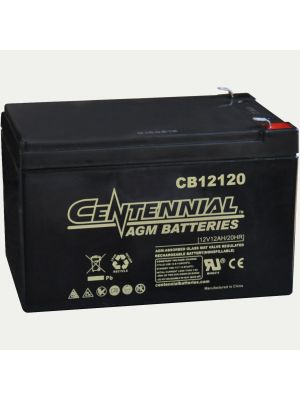 Centennial CB12120F2 12 Volt 12 Amp Hour Sealed Lead Acid AGM Battery