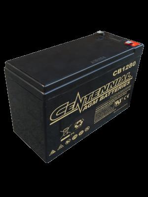 Centennial CB1280F1 12 Volt 8 Amp Hour Sealed Lead Acid AGM Battery