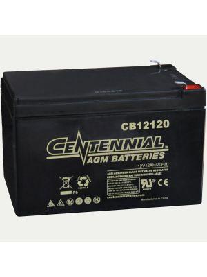 Centennial CB12120F2 12 Volt 12 Amp Hour Sealed Lead Acid AGM Battery