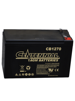 Centennial CB1270F2 12 Volt 7 Amp Hour Sealed Lead Acid AGM Battery